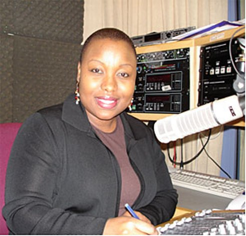 Zimbabwean radio show host Violet Gonda
