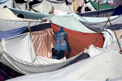 Haiti tent camps