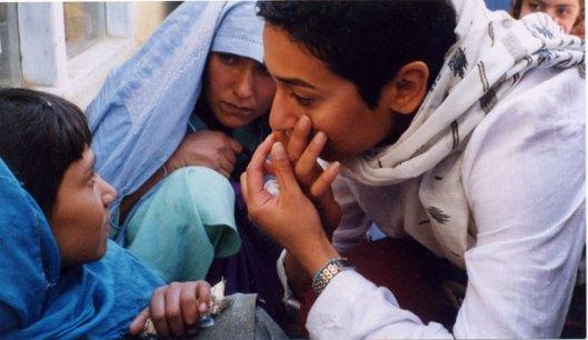 Zainab Salbi with Afghan girls