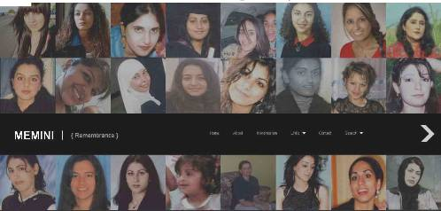Memini - a new website about the victims of honour violence