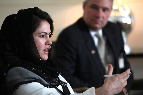 Afghan parliamentarian Ms. Fawzia Koofi & U.S. Senators, U.S. Embassy August 28, 2011