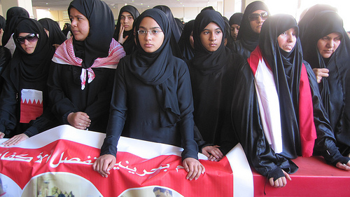 Bahrain women protesters February 19, 2011