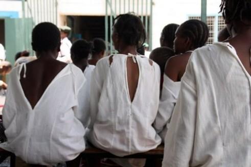 Women inmates at the Lang'ata Women's Prison, Nairobi, Kenya