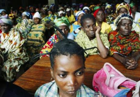 Women rape victims at Panzi hospital Congo 2007
