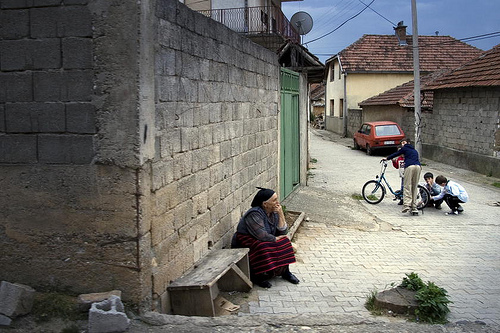 Serbian region of Kosovo in the town of Orahovac (Rahovec).