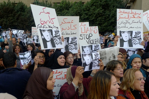 women protesters in Cairo December 20, 2011