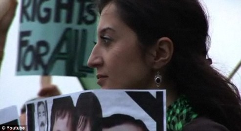 Iranian human rights activist Gelareh Bagherzadeh