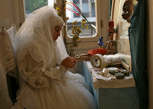 Performance art in Beirut shows attitudes about marriage for women