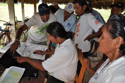 Wapichan people of Guyana, South America use new GPS system to chart forest regions