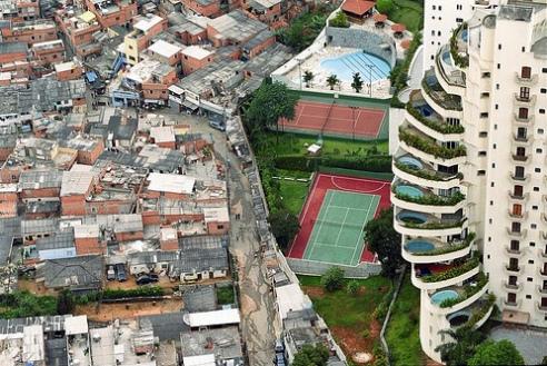 Slum living in favela Paraisopolis, Sao Paulo, Brazil