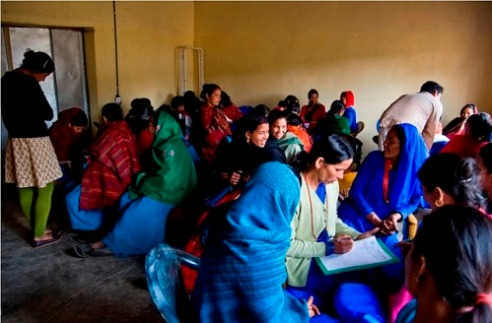 Women CSWs (Certified Heath Workers) receive training in mental health at the Nyaya Clinic, rural Achham, Nepal