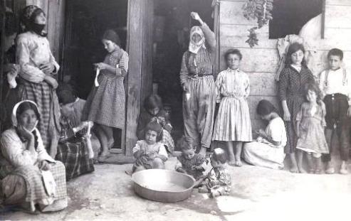 U.S. sponsored Armenian refugee camp in Aleppo, Syria in the 1920s.
