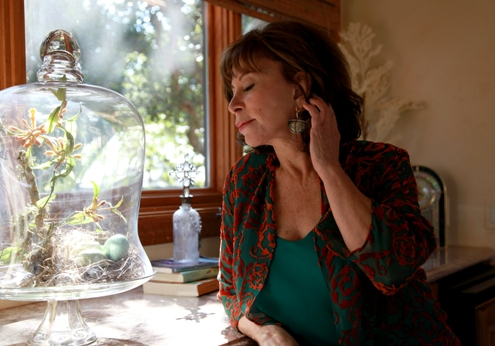 Author Isabel Allende at home 2011