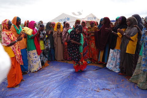 Somali refugee women gather for talks and tea as they work together to stop gender based violence in the camps