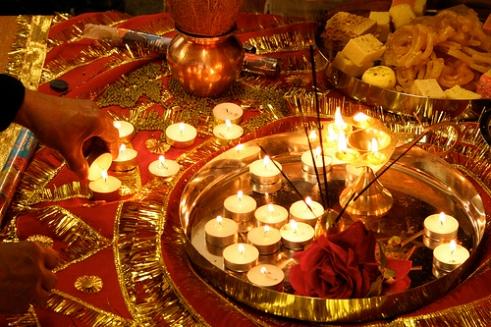 Indian Dawali candles