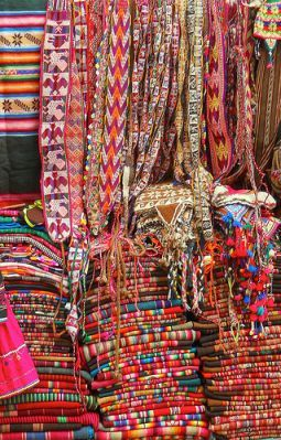 Display of tradition Bolivian textiles
