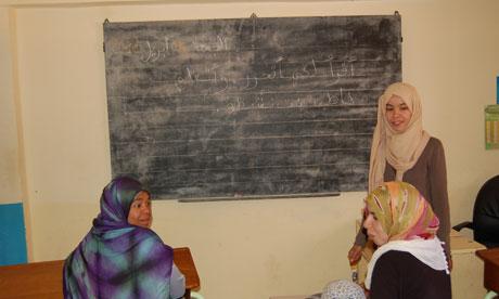 Women's literacy class in rural Morocco