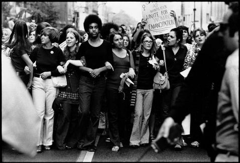 Women march on the streets of New York 1970