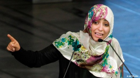 Yemeni journalist and blogger Nobel Peace Laureate Ms. Twakkol Karman
