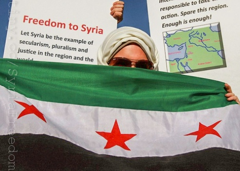 Syrian woman prostester