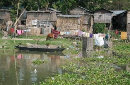 Village of Dhubirchar in Assam, India