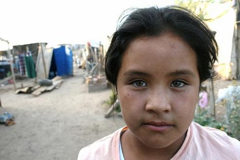 Girl suffering under poverty in Hermosillo, Mexico
