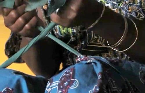 Nigerian woman exercises after receiving fistula surgery