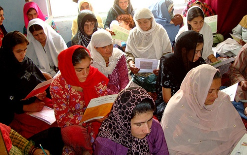 Afghan women learn about their human rights