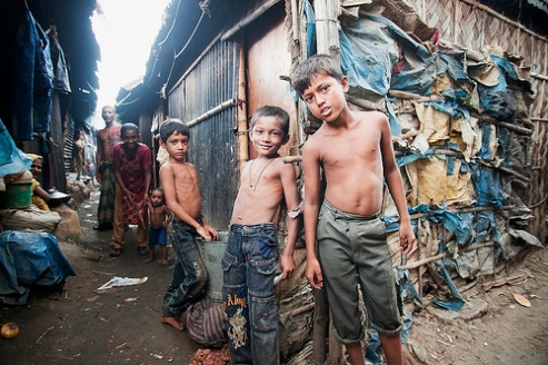Dhaka, Bangladesh slum children