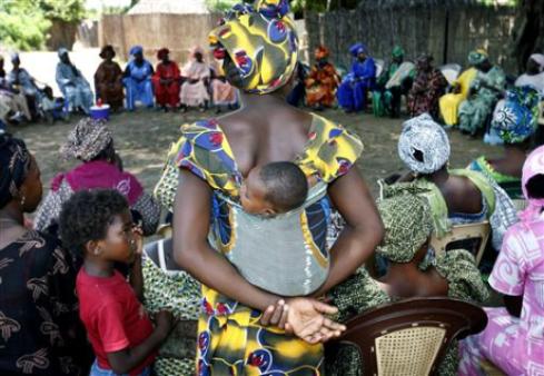 Women's community meeting on FGM in Senegal