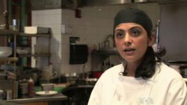 Fatima Ali talking about her role as a sou chef.