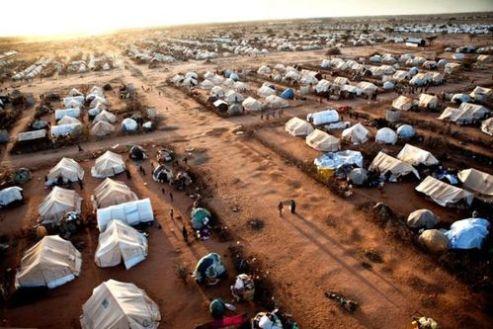 Dadaab Refugee camp - airial view