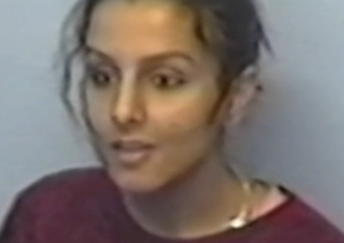 Banaz Mamoud during her interview with the London police