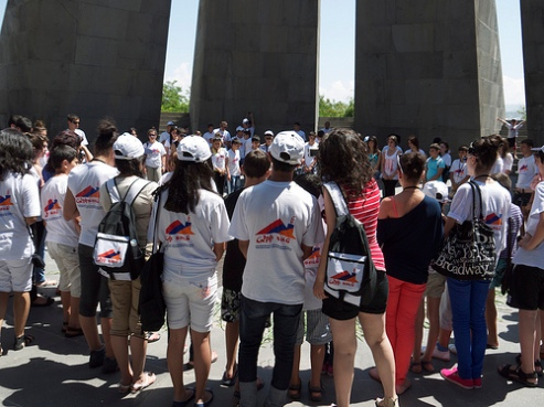 Armenia youth at the Armenia Genocide Museum