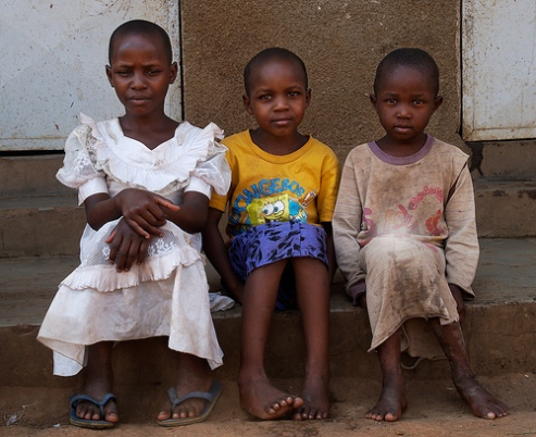 Kampala slum children, Uganda