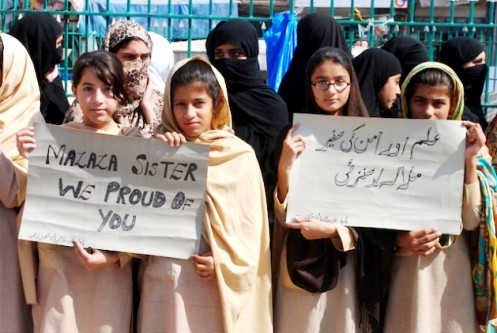 Rally in support of Malala Yousufzai Peshawar, Pakistan