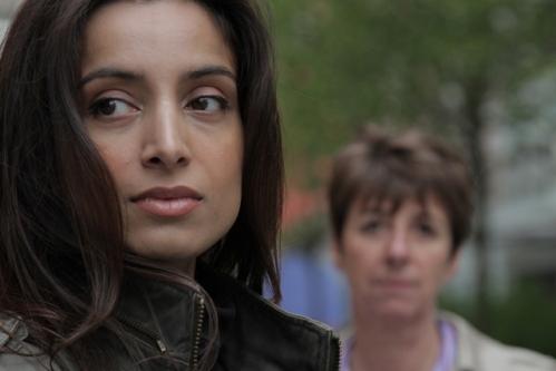 Deeyah with Chief Inspector Caroline Goode