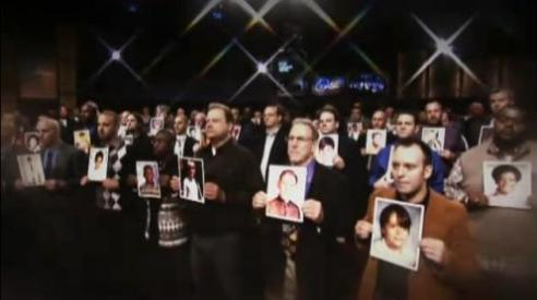 Two hundred male survivors of sexual abuse on the Oprah Winfrey Show 2010