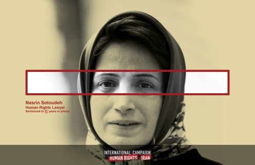 Iran imprisoned human rights attorney Nasrin Sotoudeh