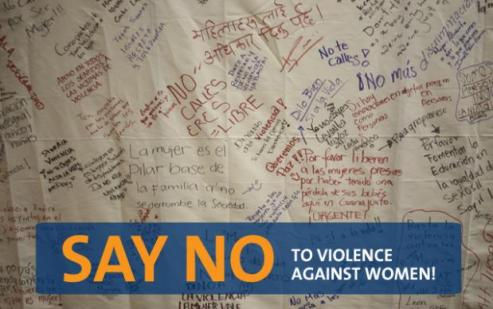 Women from around the world say no to violence