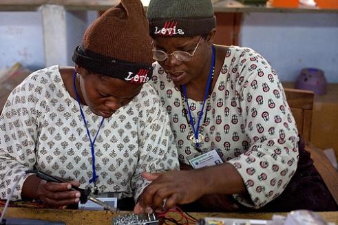 Women solar technicians