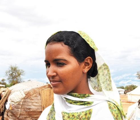 Malian woman refugee Bintou Walet Mohamed Ali