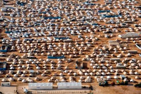 Za'atri refugee camp for displaced Syrians - December 7, 2012
