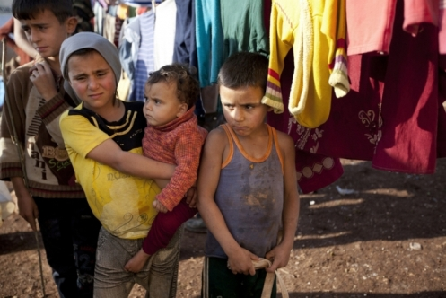 Atta camp for the displaced on border of Syria