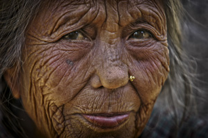 Potrait of an aging woman. Photo: David Longstreath/IRIN