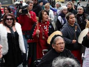 Missing women protest