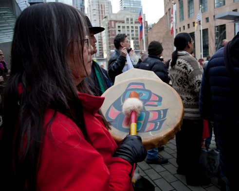 Idle No More protesters in Vancouver, Canada