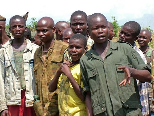 DRC - Congo, Africa child soldiers in 2007