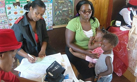 Mothers and children in Swaziland, Africa region