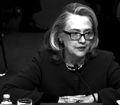 U.S. Secretary of State Hillary Clinton at Benghazi Senate hearings